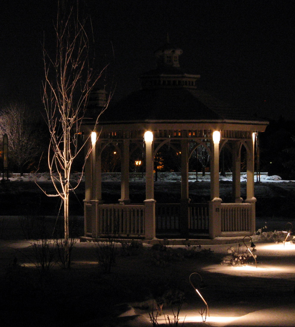 Cabana Winter Landscape Lighting