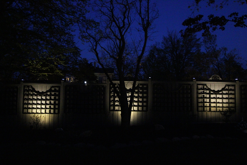Fence Lightng and Tree Silloutte Cambridge Ontario