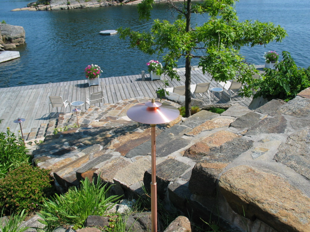 Granite Step Path Lighting Parry Sound Ontario