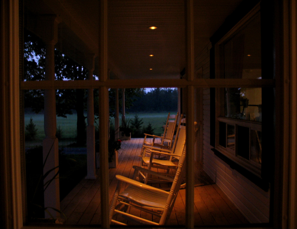 Inviting Porch Lighting