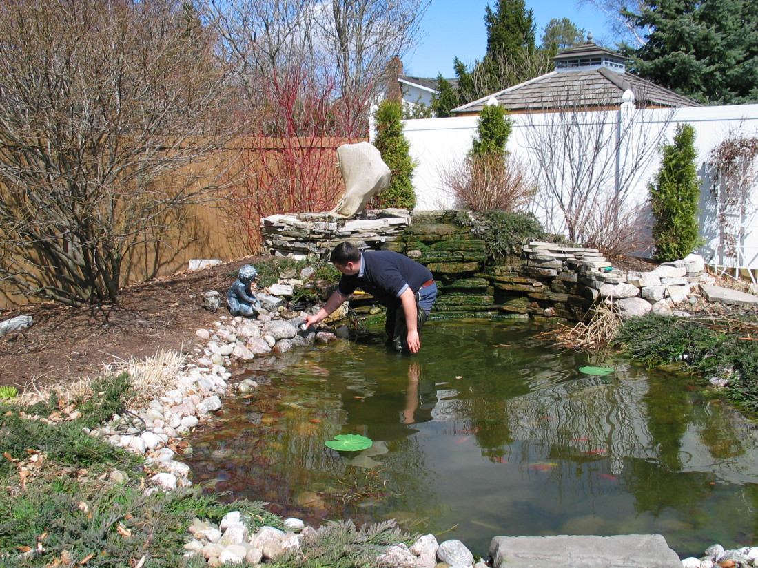 Pond Lighting Installation