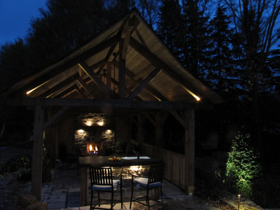 fireplace lighting outdoors